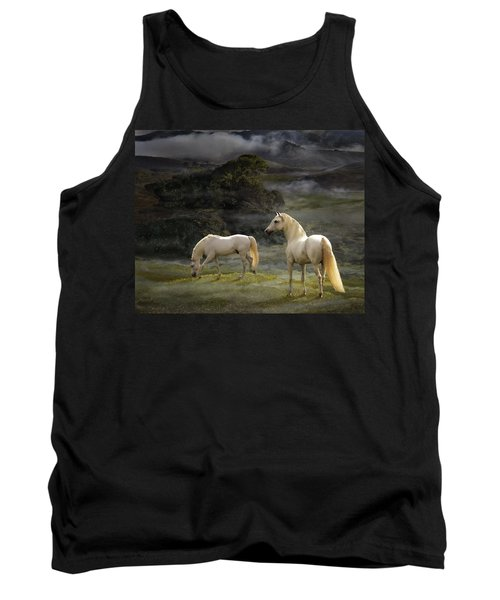Stallions Of The Gods Tank Top by Melinda Hughes-Berland