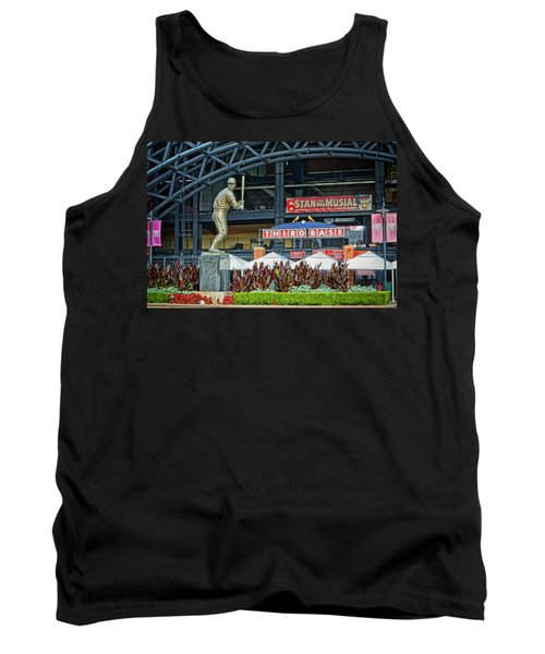 Stan Musial Statue At Busch Stadium St Louis Mo Tank Top by Greg Kluempers