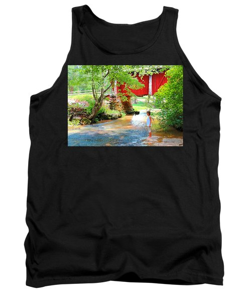 Standing By The River At Campbell's Bridge Tank Top