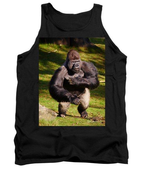 Standing Silverback Gorilla Tank Top