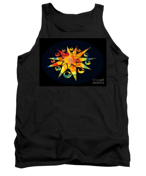 Staring Into Eternity Abstract Stars And Circles Tank Top