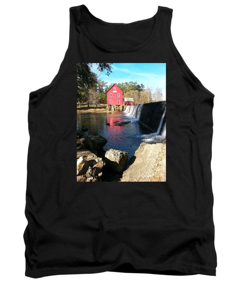 Tank Top featuring the photograph Starr's Mill In Senioa Georgia 2 by Donna Brown