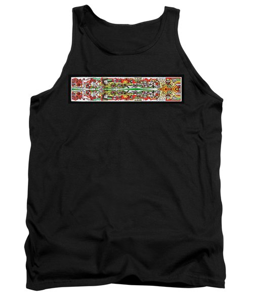 State Of Independence Postage Stamp Print Tank Top by Andy Prendy