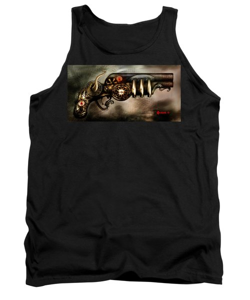 Tank Top featuring the digital art Steam Punk Pistol Mk II by Kim Gauge