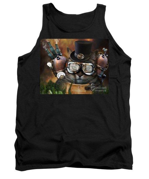Steampunk Cat Tank Top by Juli Scalzi