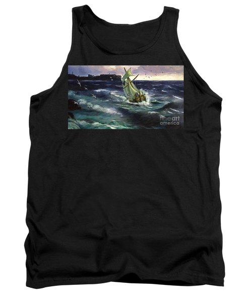 Tank Top featuring the digital art Storm At Dubrovnik by Lianne Schneider