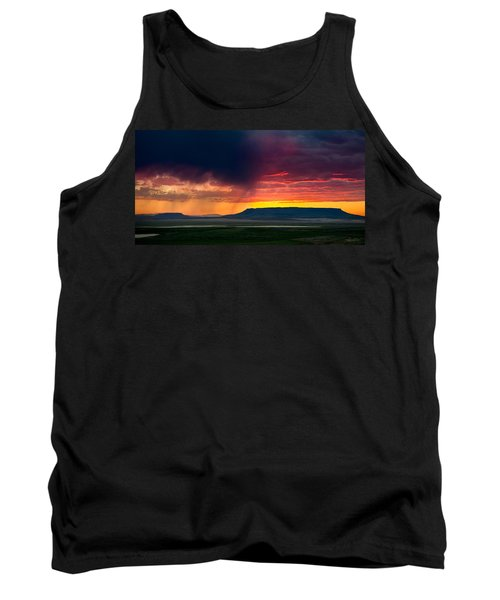 Storm Clouds Over Square Butte Tank Top