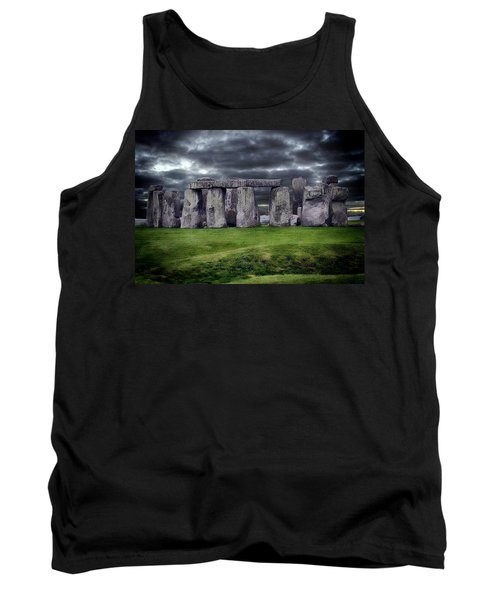 Storm Clouds Over Stonehenge Tank Top by Anthony Dezenzio