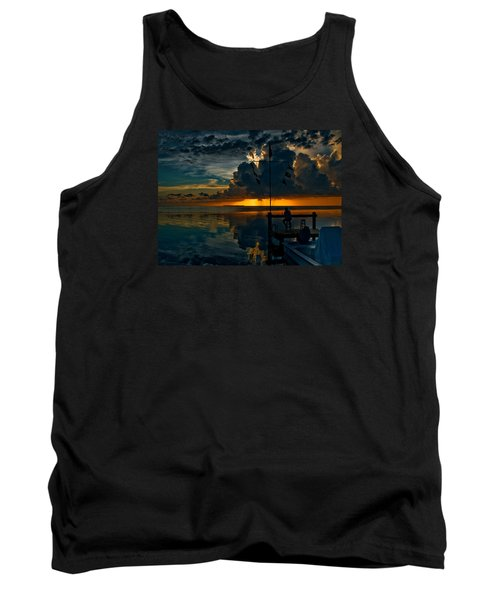 Sunset Tropical Storm And Watcher In Florida Keys Tank Top
