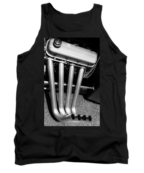 Tank Top featuring the photograph Straight Pipes - Chevrolet Engine Headers by Steven Milner