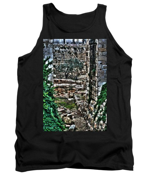 Tank Top featuring the photograph Street In Jerusalem by Doc Braham