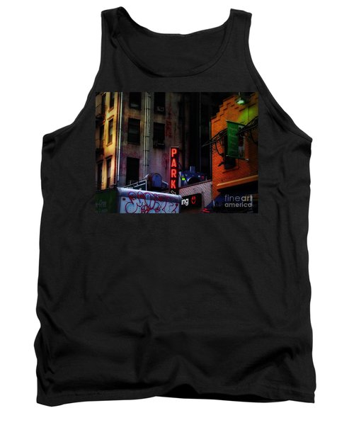 Tank Top featuring the photograph Graffiti And Grand Old Buildings by Miriam Danar