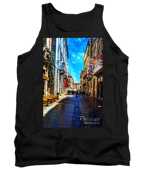 Streets Of Lisbon 1 Tank Top by Mary Machare