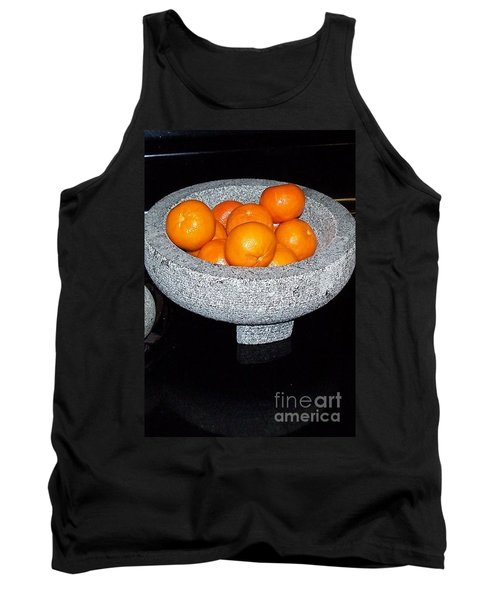 Study In Orange And Grey Tank Top by Susan Williams