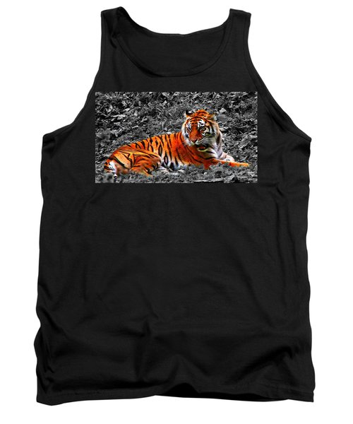 Sumatran Tiger Tank Top by Davandra Cribbie