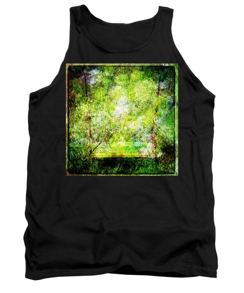 Tank Top featuring the mixed media Summer Days Of Yore #1 by Sandy MacGowan