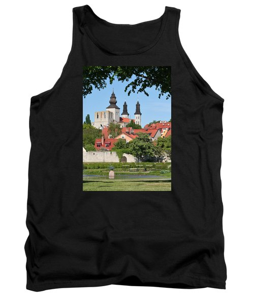 Summer Green Medieval Town Tank Top