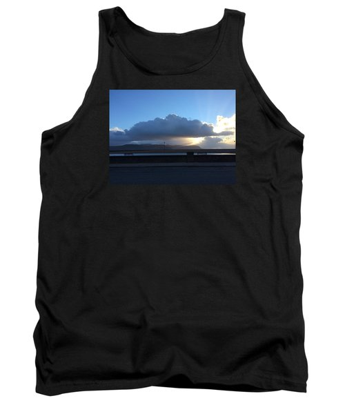 Tank Top featuring the photograph Sunbeams Over Conwy by Christopher Rowlands