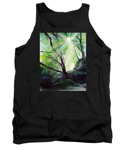 Tank Top featuring the painting Sunbeans Of Grace by Allison Ashton