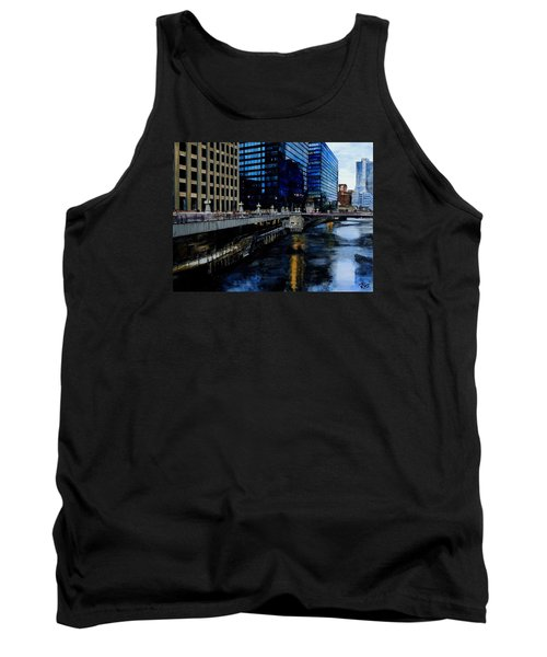 Sunday Morning In January- Chicago Tank Top by Raymond Perez