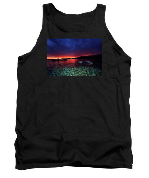 Tank Top featuring the photograph Sundown In Lake Tahoe by Sean Sarsfield