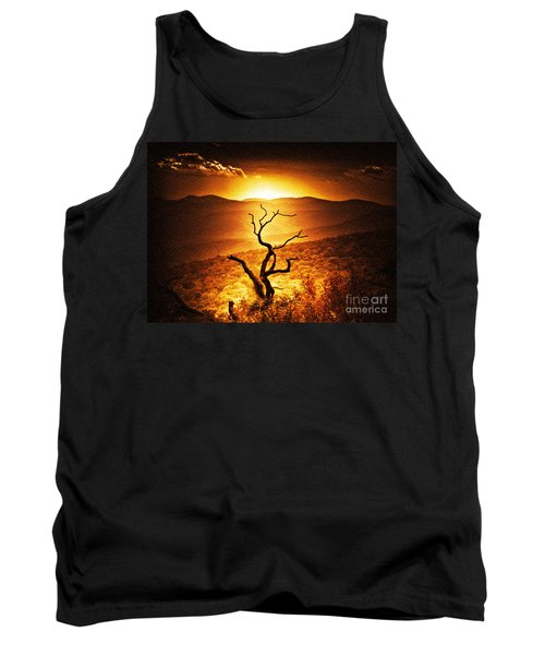 Sundown In The Mountains Tank Top by Lydia Holly