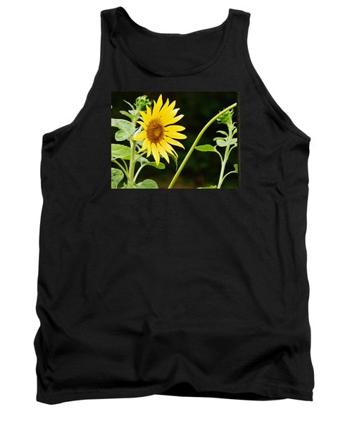 Tank Top featuring the photograph Sunflower Cheer by VLee Watson
