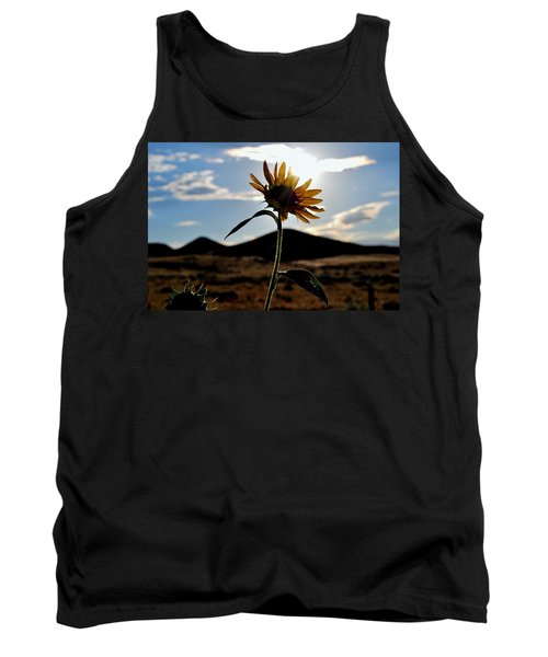 Tank Top featuring the photograph Sunflower In The Sun by Matt Harang