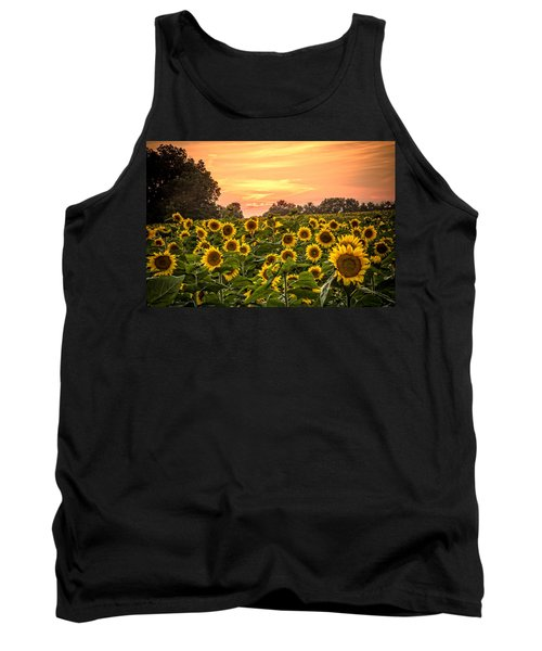 Tank Top featuring the photograph Sunflower Sunset by Steven Bateson