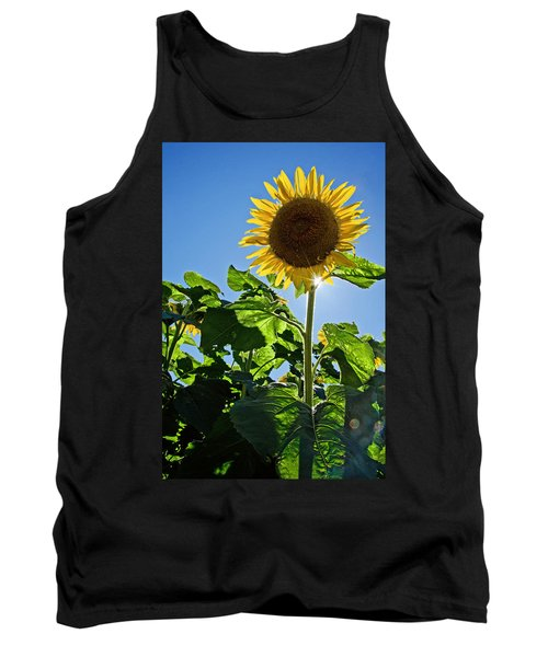 Sunflower With Sun Tank Top