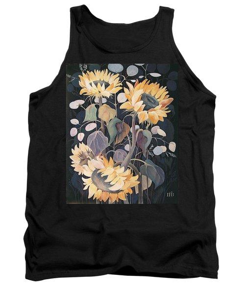 Sunflowers' Symphony Tank Top by Marina Gnetetsky