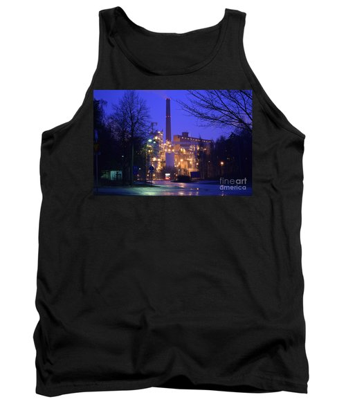 Sunila Pulp Mill By Rainy Night Tank Top