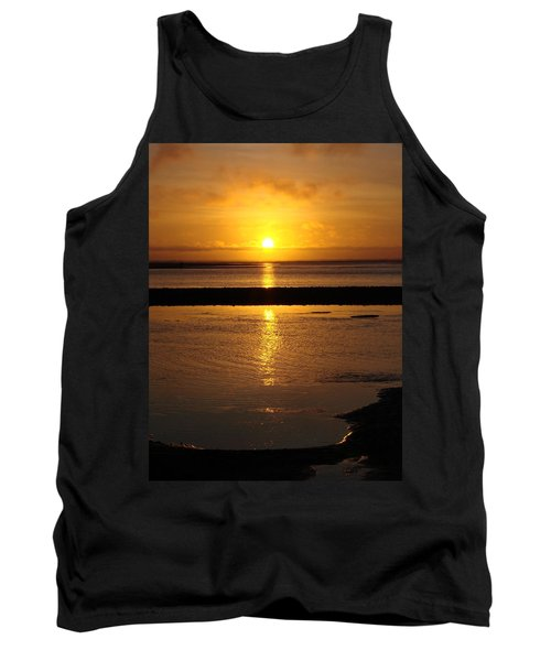 Tank Top featuring the photograph Sunkist Sunset by Athena Mckinzie