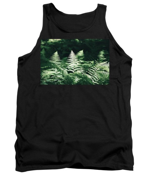 Tank Top featuring the photograph Sunlight And Shadows-algonquin Ferns by David Porteus