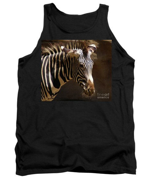 Tank Top featuring the photograph Sunlit Stripes by Linda Shafer
