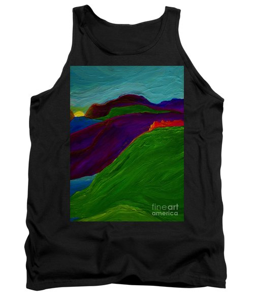Tank Top featuring the painting Sunrise Castle By Jrr by First Star Art