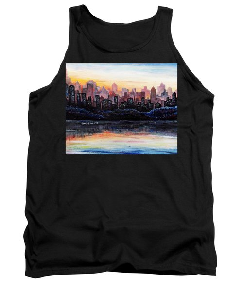 Tank Top featuring the painting Sunrise City by Shana Rowe Jackson