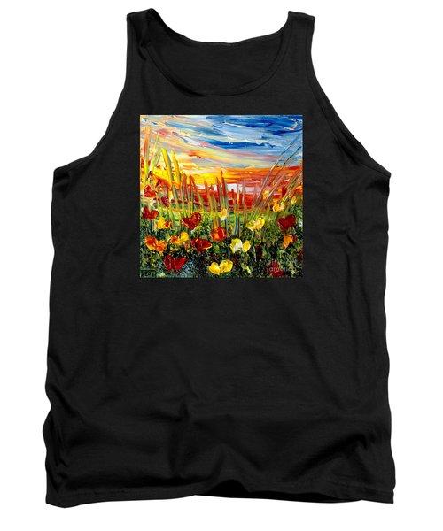Sunrise Meadow   Tank Top by Teresa Wegrzyn