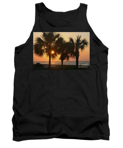 Sunrise Through The Palms Tank Top by Kevin McCarthy