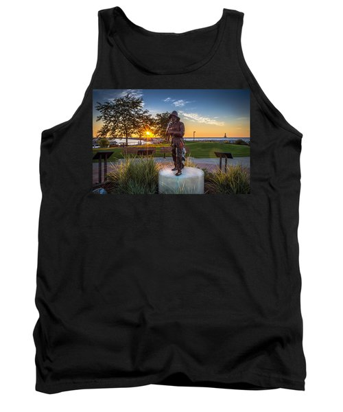 Sunrise With The Fisherman Tank Top by James  Meyer