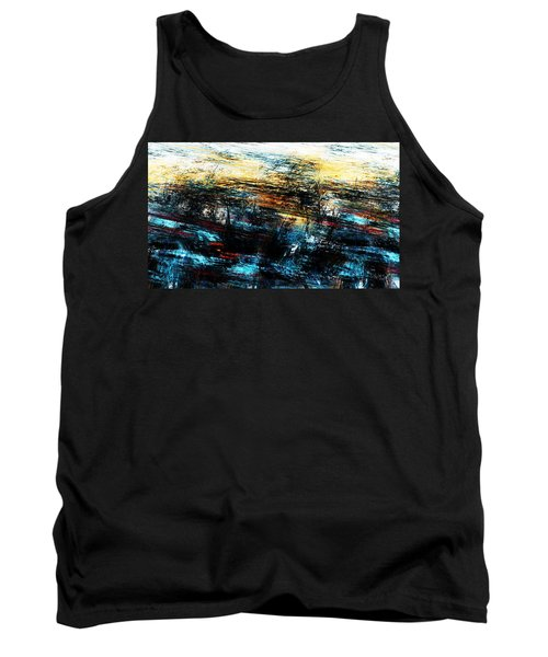 Tank Top featuring the digital art Sunset 083014 by David Lane
