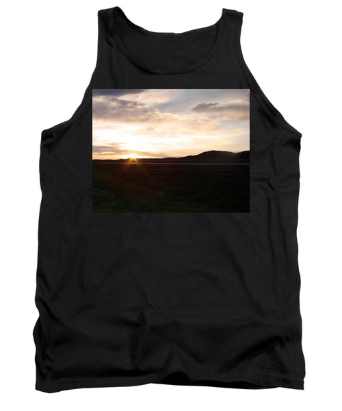 Tank Top featuring the photograph Sunset Across I 90 by Cathy Anderson