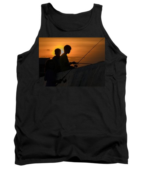 Sunset Anglers Tank Top