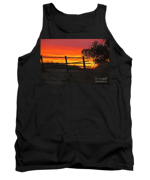 Sunset At Bear Butte Tank Top by Mary Carol Story