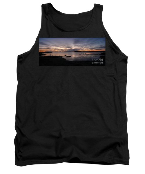 Sunset Over Lake Myvatn In Iceland Tank Top