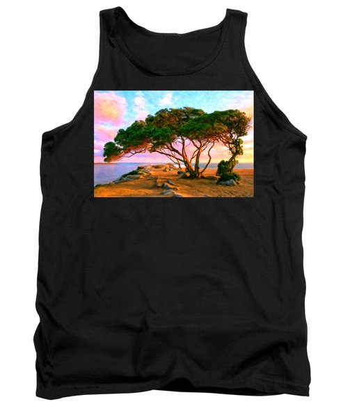 Sunset At The Wedge In Newport Beach Tank Top