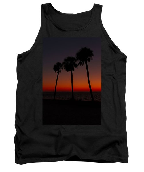 Sunset Beach Silhouette Tank Top
