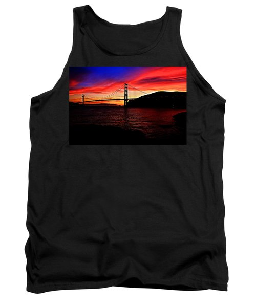 Sunset By The Bay Tank Top by Dave Files