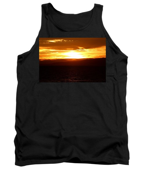 Sunset By The Fjord Tank Top