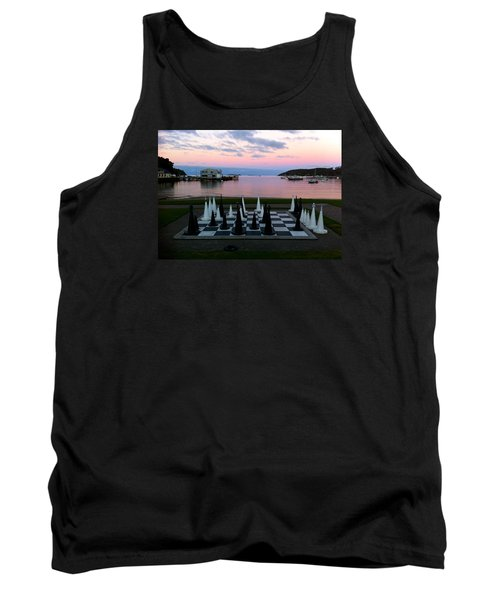 Sunset Chess At Half Moon Bay Tank Top by Venetia Featherstone-Witty